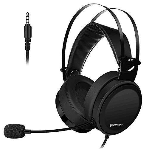 PS4 Gaming Headset, 3.5mm PC Gaming Headphones Over Ear with Microphone, Lightweight Hi-Fi Noise Isolating Headset, Soft…