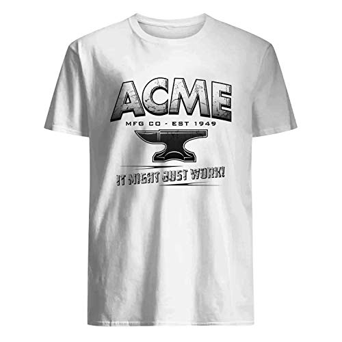 USA 80s TEE Acme It Might Just Work MFG CO EST 1949 Shirt White -
