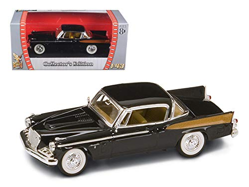 (Road Signature 1958 Studebaker Golden Hawk Black 1/43 Diecast Model Car)