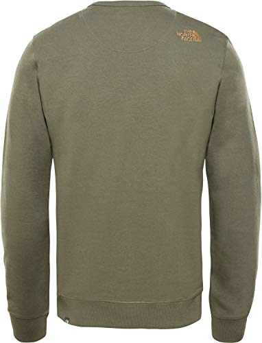 The North Taupe Face new Peak Drew Green Verde Pullover Uomo HBBwrx