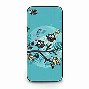 iPhone 5c Hard Funda,Cartoon Owl,Compact Attractive Plastic Funda para iPhone 5c