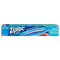 Ziploc brand Freezer Bags Extra Large, Smart Zip Seal, 10 count