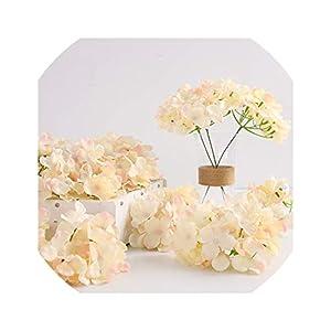 50pcs Artificial Silk Hydrangea Flower Head Ball Chrysanthemum Wedding Path Home Hotel DIY Flower Wall Accessories 38