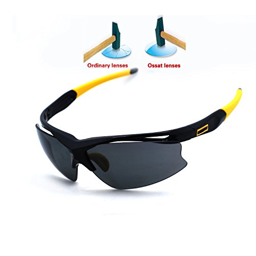 Ossat Polarized Sports Sunglasses for Baseball Cycling Fishing Golf TR90 Superlight - Expensive Most Sunglasses Mens
