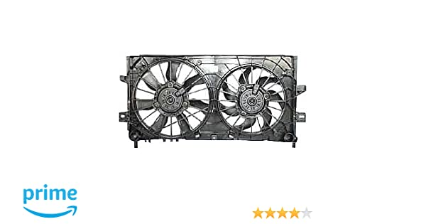 TYC 621430 Chevrolet//Pontiac Replacement Radiator//Condenser Cooling Fan Assembly