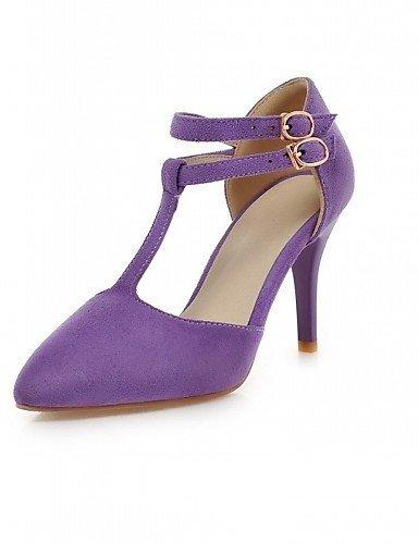 ShangYi Damenschuhe-High Heels-Hochzeit / Büro / Party Party / & Festivität-Kunstleder-Stöckelabsatz-Absätze-Schwarz / Rosa / Lila Purple 84acbb