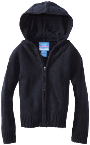 Nautica Little Girls'  Uniform Sweater Hoody, Navy, for sale  Delivered anywhere in USA