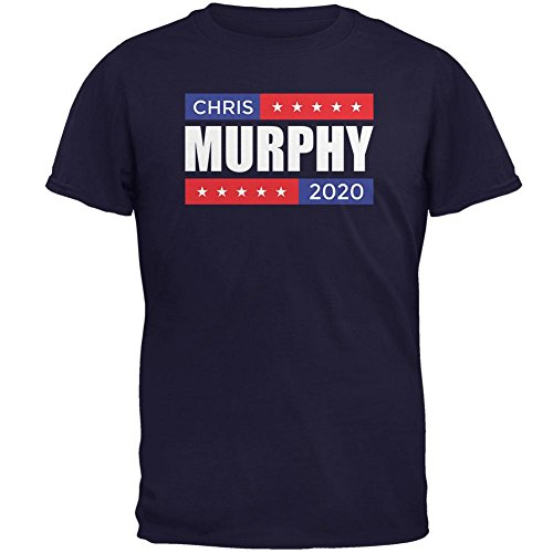 (Old Glory Election 2020 Stacked Chris Murphy Mens T Shirt Navy MD)