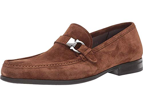 SALVATORE FERRAGAMO Men's Adam Loafer Brown Sugar Suede 8.5 E (M) US