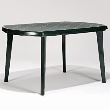 Allibert Jardin Elise 6 Seat Forest Green Rectangular Dining
