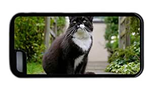 Hipster Cheap price iPhone 5C covers black white cat TPU Black for Apple iPhone 5C