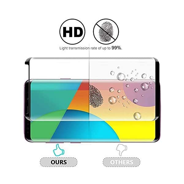BSEOOPIO-Glass-Screen-Protector-for-Samsung-Galaxy-S92-Pack-3D-Curved-Tempered-Glass-Dot-Matrix-with-Easy-Installation-Tray-Case-Friendly