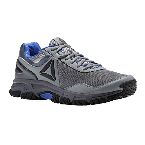 Reebok Men's Ridgerider Trail 3.0 Sneaker, Flint Grey/Alloy/Acid Blue/Black, 9 M US