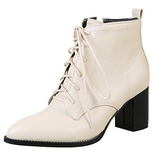 CularAcci Block Women Elegant Block CularAcci Heel Martin Boots B07HGV7TDR Shoes b56ab4