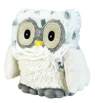 Warmies Hooty Snowy OWL Heatable Lavender Scented Stuffed Animal (Owl Heating Pad)
