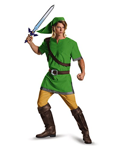 Disguise Men's Link Classic Adult Costume, Green, X-Large