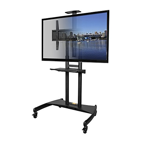 Kanto Mobile TV Stand with Adjustable shelf and flat screen mount
