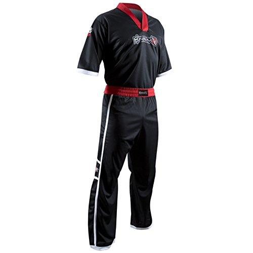 (Hayabusa Winged Strike Karate Uniform, Black, X-Large)