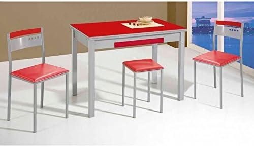 Amuebla 667. Mesa DE Cocina Extensible DE 100 X 60 CM.: Amazon.es ...
