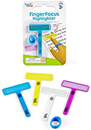 hand2mind 91244 FingerFocus Highlighters Individual Pack, Guided Reading Strips, Reading Tool for Kids & D