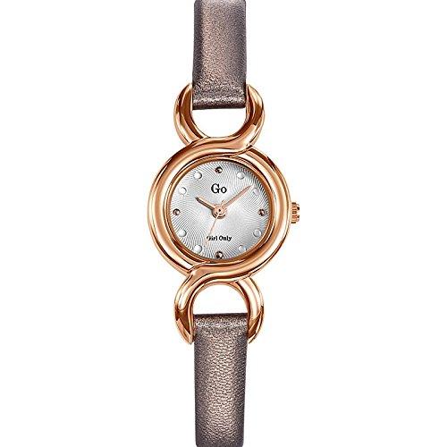 Go Girl Only-698711-Reloj para mujer cuarzo, analógico, correa de cuero, color Gris: Amazon.es: Relojes