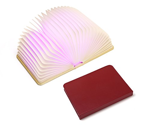 Lapens Book Colorful LED Light - Open the Cover to Enjoy Bright LED Illumination Rechargeable Unique Gift Idea LPLEDBF210-Red from Lapens