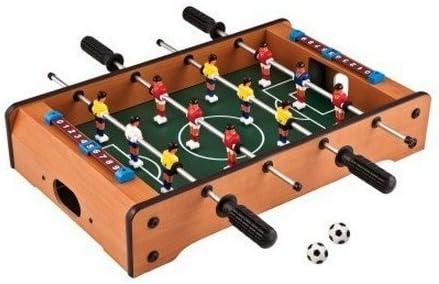 Kids Stuff De Madera Mini futbolín de Mesa Set: Amazon.es ...