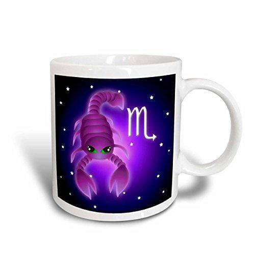 (3dRose Cute Astrology Scorpio Zodiac Sign Scorpion Mug, 11-Ounce)