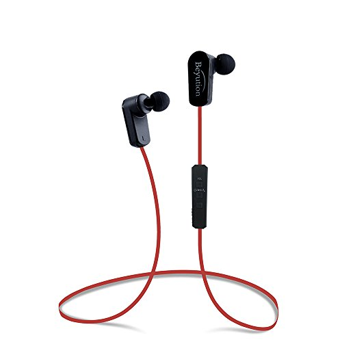 Beyution New Sports Hi-fi Bluetooth 4.1 Version Bluetooth Headphones ---Mini Lightweight Wireless Stereo Sports/running Bluetooth Earbuds Headphones Headsets Built in Mic-phone (508s-v4.1-red)
