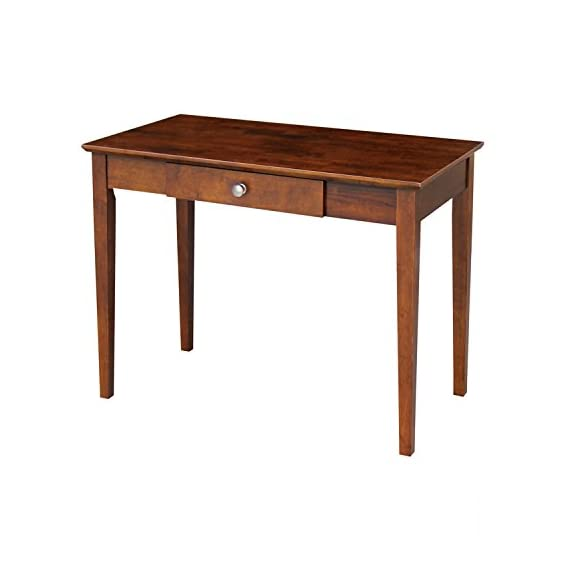 "International Concepts Writing Table - Made from solid hardwood Inside size of center drawer is 2.16""D x 14.80""L x 15.35""W Drawer with euro glide - writing-desks, living-room-furniture, living-room - 41gsDI%2BHuSL. SS570  -"