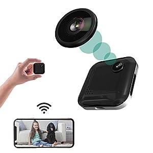 Flashandfocus.com 41gsDKo922L._SS300_ Spy Camera Mini Hidden Camera 1080P Wireless Spy Cam Portable WiFi Nanny Cam with Night Vision, Motion Detection…