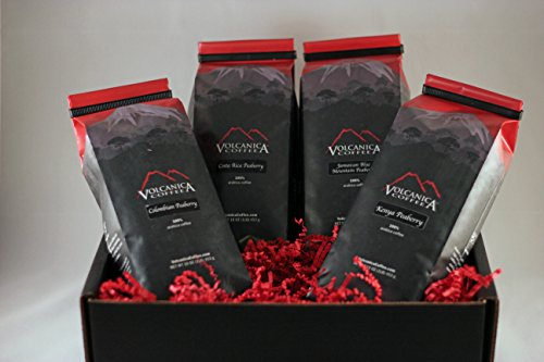 Classic Gourmet Coffee Gift Box, Whole Bean by Volcanica Gourmet Coffee
