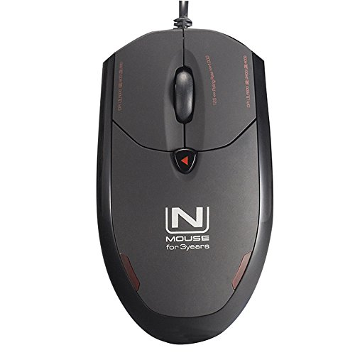 ZAIDTEK HM5566 4200 DPI Gaming Mouse USB 1.8m Wired LED Optical Computer Accessories Adjustable DPI Switch for Gaming, Work Black 4 Buttons Gamers' Love