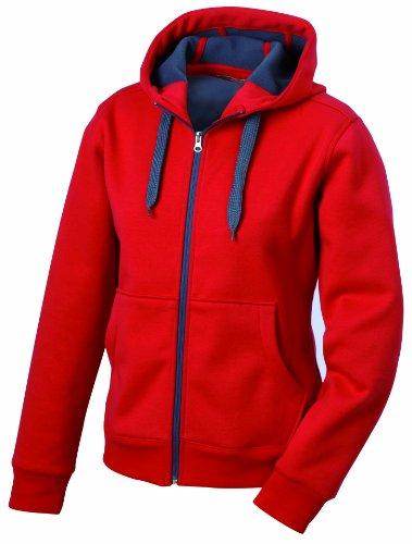 carbon amp; red Doubleface Giacca Nicholson Bondingjacke Donna James Rosso 4wqT8xx