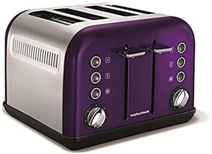 Morphy Richards Accents Four Slice Toaster Plum Purple