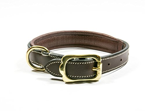 english-bridle-leather-dog-collar-extra-small-dark-chocolate-color