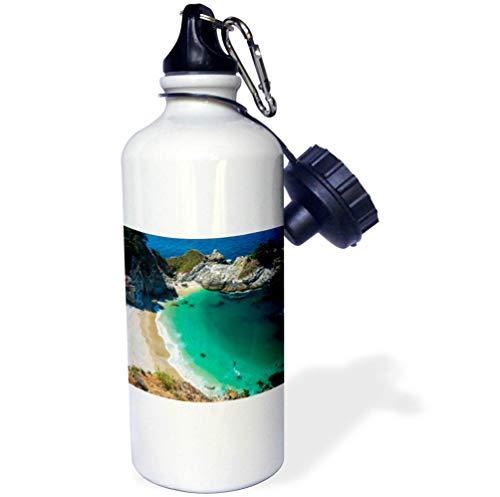3dRose Danita Delimont - California - McWay Cove, Julia Pfeiffer Burns State Park, Big Sur, California, USA - Flip Straw 21oz Water Bottle (wb_314702_2) (Julia Pfeiffer Burns State Park Big Sur)