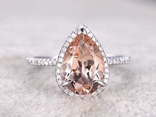 Amazon.com: 8x12mm Natural Pear Shaped Cut Peach Pink