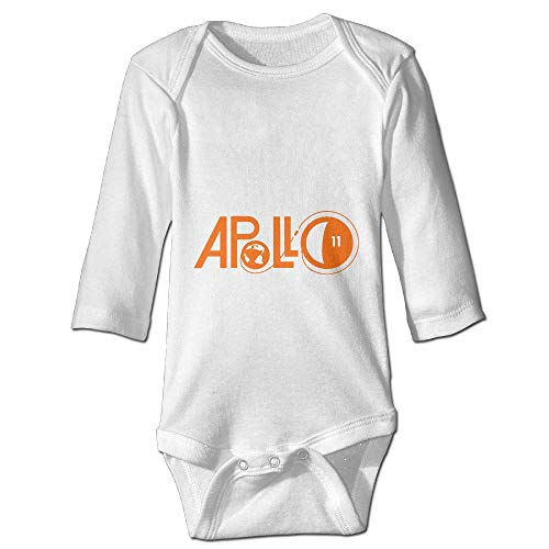 Price comparison product image Printed Apollo 11 Moon Earth Kawaii Baby Girls Long Sleeves Bodysuit Outfits Clothes