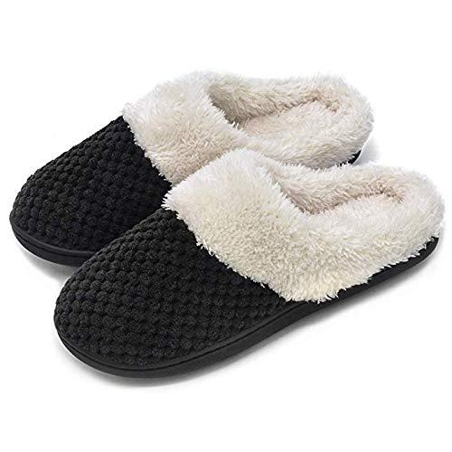 Antiscivolo Da Casa Interna Nero Fodera Isolion Pantofole Con Donna x5n7w70qY