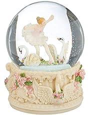 MusicBox Kingdom 25209 Glitter Globe Swan Lake Music Box Playing Swan Lake