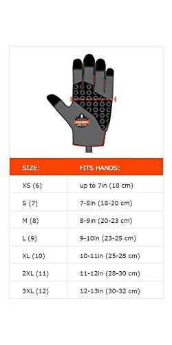 Ergodyne ProFlex 9002 Anti-Vibration Work Gloves, ANSI/ISO Certified, Full Fingered, Medium by Ergodyne (Image #3)