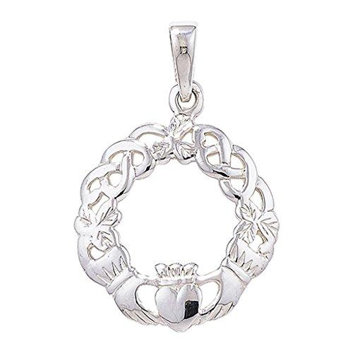 c5789aae2c7f Nuevo Los hombres de plata de ley con un colgante de Claddagh celta en negro  collar