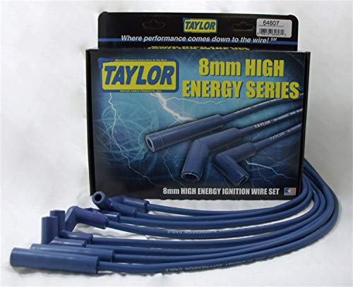 Taylor Cable 64618 High Energy Rc Custom 6 Cyl Blue (Best Jeep Jk Spark Plug Wires)