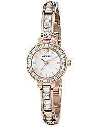 GUESS Womens U0429L3 Elegant Rose Gold-Tone Jewelry Inspired Watch