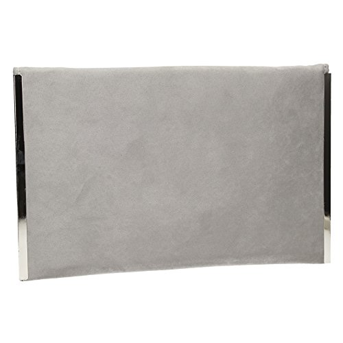 eFb9xPDXyg Clutch Swankyswans Prom Envelope Bag Women's Slim Grey Suede Party 55qSOr0x