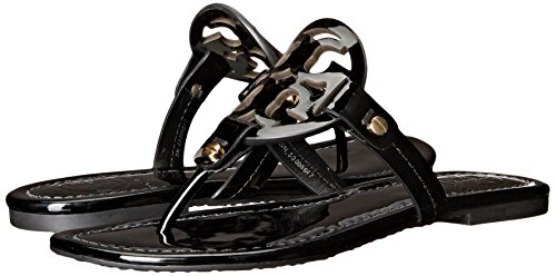 Pictures of Tory Burch Miller Flip Flop Leather Thong Black 8 M US 4