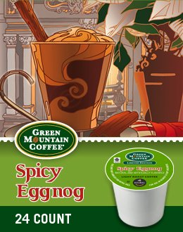 [Green Mountain Coffee Spicy Eggnog K-Cups 72-Count] (Eggnog Cups)