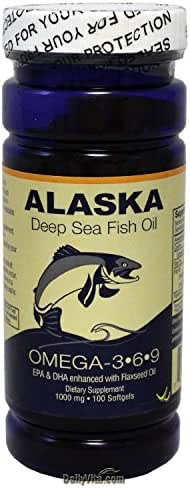 Alaska Deep Sea Fish Oil, Omega 3,6,9 1000 Mg 100 Softgels by NCB