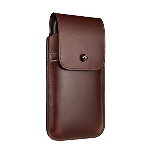 Blacksmith-Labs Barrett Mezzano 2017 Premium Genuine Leather Swivel Belt Clip Holster for Apple iPhone 7 Plus (5.5 inch screen) for use with Apple Leather Case - Brown Cowhide/Gunmetal Belt Clip by Blacksmith-Labs